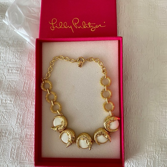 Lilly Pulitzer Gold Metallic Necklace